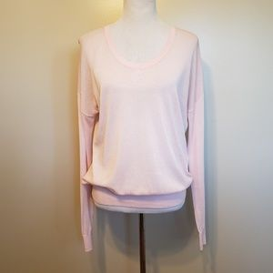 Cabi | pink long sleeve crew neck pullover